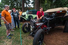 NEWS-TIMES PHOTO: CHASE ALLGOOD - Concours d'Elegance rolled into Forest Grove July 17. Here, Clayon Paddison shows off his 1927 Ford Model T hot rod, which was featured on Sunday's episode of Jay Leno's Garage on YouTube.