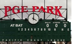 TRIBUNE FILE PHOTO: L.E. BASKOW - The old-style scoreboard at PGE Park was there in 2001, when the Triple-A Portland Beavers returned as the main tenant.