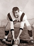 COURTESY OF BRIAN HOLMAN - Bob Holman, pictured here playing football for Southern Oregon University, was not a smoker, his son Brian said, but he somehow contracted lung cancer and died of the disease 10 years ago. Brian Holman is participating in the Free to Breathe Run/Walk next month to honor his dad.