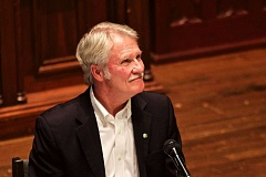 PORTLAND TRIBUNE: JAIME VALDEZ - Former Gov. John Kitzhaber spoke Monday at a panel on health care reform, continuing his emergence into public life despite an ongoing federal criminal investigation.
