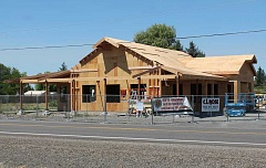 JIM BESEDA/MOLALLA PIONEER - Construction is nearing completion on the Markum Inn restaurant along Highway 213 in Marquam, about seven miles south of Molalla.