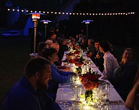 COURTESY: FARM 2 FORK - The Orchard Stroll Farm 2 Fork event is a fundraiser for The Dalles Area Chamber of Commerce and to raise awareness of agritourism. It's part of a farm dinner trend of connecting farmers with residents.