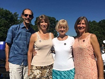 Marcie Brown, Carol Davidson and Lisa Munson shared stories and thoughts about their dad and husband, Everett Davidson, when they approached the podium on the hot June day of the In Memory ceremony in Washington, D.C.