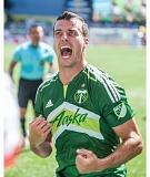 TRIBUNE PHOTO: DIEGO G. DIAZ - Defender Steven Taylor, a late-season acquisition from England, exults Sunday at Providence Park as the Portland Timbers roll to a 4-0 lead in a 4-2 win over Seattle.