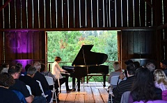SPOKESMAN PHOTOS: VERN UYETAKE - Pianist Hunter Noack performs  Liszt Un Sospiro at the In A Landscape concert at the Stein-Boozier Barn Aug. 31.