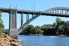 TIDINGS PHOTO: LESLIE PUGMIRE HOLE - The commercial, industrial and residential areas surrounding the Oregon City-West Linn Arch Bridge are under discussion as part of an eventual master plan for the entire area.