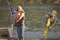 TIDINGS FILE PHOTO: VERN UYETAKE - West Linn's 9/11 commemoration returns to the Willamette River this year, after two years in other locations.