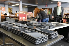 SUBMITTED PHOTO - Chromebooks were deployed at pilot schools last year, including Beaverton High School. This year, all high schoolers will have one-to-one access to devices.