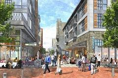 SUBMITTED PHOTO - Lake Oswego's next mayor will face a variety of tough policy choices in the next four years, including: Should the city look for more high-density redevelopment opportunities like the Wizer Block project? This is a rendering of that in-progress project, slated for completion in fall 2017.
