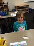 Rylie Sandmeyer in her kindergarten classroom at Trillium Creek Primary Sept. 6.
