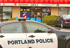 DAVID F. ASHTON - East Precinct officers responded to investigate an armed robbery at the Lighthouse Deli on S.E. Powell Boulevard on August 31.