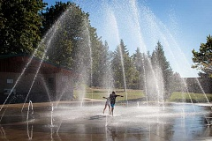 CITY OF WEST LINN - Aaron Rotkowski's Dinosaur Park Fountain, Marylhurst Heights Park.