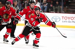 TRIBUNE PHOTO: JAIME VALDEZ - Ryan Huges of the Portland Winterhawks celebrates after scoring his team's third goal Saturday night at Moda Center.