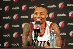 TRIBUNE PHOTO: DIEGO G. DIAZ - Trail Blazers point guard Damian Lillard says the team has to attack being a potential NBA playoff contender.
