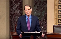 COURTESY PHOTO - U.S. Ron Wyden said Wednesday in a Senate floor speech that Southern Oregon's Umpqua Community College had shown 'extraordinary resiliance' in the year since a student shot and killed eight people and himself on campus.
