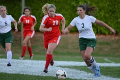 ESTACADA NEWS: DAVID BALL - Estacadas Skylar Hunter breaks across the midfield ahead of Corbetts Josie Fort.