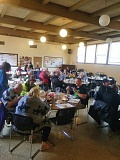 SUBMITTED PHOTO - Feed the Hungry offers a free, hot meal to over 100 people every Sunday; above is a recent photo of diners at St. Johns Episcopal Church in Milwaukie. The groups only fundraiser takes place from 5 to 9 p.m. on Oct. 15.