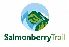 COURTESY GRAPHIC - This logo was the favorite among three presented to Salmonberry Trail leaders last week. The final logo will feature some version of this, including coastal mountains and waters.