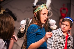 OUTLOOK PHOTO - Ava Horton plays the title character in the Corbett Children's Theater production of 'Alice in Wonderland. The show continues on Thursday, Friday and Saturday at The Chapel in Troutdale.
