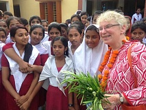 SUBMITTED PHOTO: RICK SIMPSON - Rev. Robin Garvin visited Bangladesh with a group from Lake Grove Presbyterian Church in April. 'The children are bright, curious and affectionate,' she says. 'I ache for them to have opportunities.'