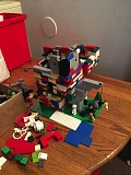 COURTESY PHOTO - A fairly elaborate and time-consuming Lego structure built by the intruder(s).
