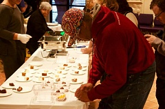OUTLOOK PHOTO - Jerald Doswell fills out a feedback card during the walk, talk and eat event.