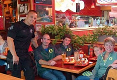 FILE PHOTO - Police officers will cook and serve food as part of a nationwide Special Olympics fundraiser