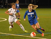 THE OUTLOOK: MATT RAWLINGS - Barlows Madison Serafini moves around a Central Catholic defender during the teams 1-1 draw at Delta Park on Thursday night.