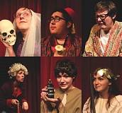 COURTESY PHOTOS - Students at St. Helens High School will present 'The Complete Works of William Shakespeare,' abridged and revised, this week.