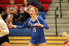 REVIEW/NEWS PHOTO: JIM BESEDA - La Salle Prep senior outside hitter Emmerson Smith was named the Northwest Oregon Conference Player of the Year in voting by the league's coaches.