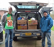 SUBMITTED PHOTO - After collecting 400 toys last year, Recreation Coordinator Brian Stevenson (left) says that theyre aiming for 500 toys this year.