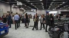 PORTLAND METRO NEW CAR DEALERS ASSOCIATION - Those at last year's Sneak Peek Charity Party were able to check out all the new vehicles at the 2016 Portland International Auto Show the night before it opened.