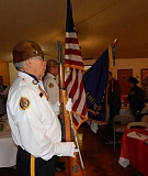 BARBARA SHERMAN - The Aloha American Legion Post 104 Color Guard presented the colors at the Royal Villas' annual veterans' breakfast.