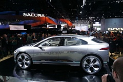 PORTLAND TRIBUNE: JEFF ZURSCHMEIDE - While the prototype SUV is compact on the outside, the design allowed Jaguar engineers to maximize interior space by moving the drive motors to the front and rear axles.
