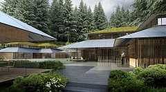 COURTESY: KENGO KUMA AND ASSOCIATES - The new buildings at Portland Japanese Garden (as in this rendering) were designed by world-renowned architect Kengo Kuma.