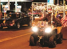 CENTRAL OREGONIAN FILE PHOTO - The Annual Lighted Christmas Parade, hosted by the Prineville-Crook County Chamber of Commerce, will feature a variety of light-adorned entrants, such as the one shown above from last year's parade.