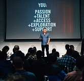 COURTESY BUSINESS WIRE - Ken Black, NIKE, Inc. Vice President of Digital Design Transformation, addresses the Future You education workshop at Nikes World Headquarters.