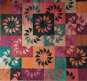 SUBMITTED PHOTO - A quilt has been donated by Shari Edwards and Linda Victorine for the benefit raffle.