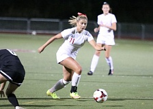 REVIEW/NEWS PHOTO: JIM BESEDA - Senior forward Maddy Griffith was one of three Oregon City players named to the Mt. Hood Conference girls' soccer all-league first team after the Pioneers went undefeated in league play.