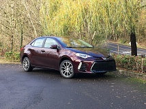 PORTLAND TRIBUNE: JEFF ZURSCHMEIDE - The 2017 Toyota Corolla %oth Anniversary Special Edition model features a more aggressive front end that is somewhat at odds with the family friendly nature of the popular compact.