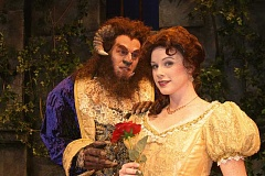 SUBMITTED PHOTO - Erin Tamblyn as Belle and Leif Norby as the Beast in Pixie Dust Productions Beauty and the Beast, opening Dec. 9 and continuing through Dec. 24 at the Newmark Theatre in Portland.