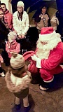 COURTESY PHOTO: ANGIE LANTER - About 150 people attended the Banks tree lighting, which featured choirs, Santa and treats donated by the Banks Public Library, The Trailhead Café, Banks Subway and Jims Thriftway.