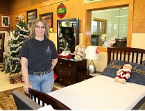 HOLLY M. GILL - Joy Stephens, owner of Above and Beyond Home Furnishings, said that shoppers were interested in all types of furnishings, from living room to bedroom.