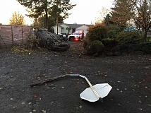 PHOTO COURTESY: CCSO - The suspect vehicle was found flipped on its top in a home's driveway on Southeast 92nd Court.