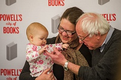 TRIBUNE PHOTO: DIEGO DIAZ - U.S. Sen. Bernie Sanders greeted a new fan Thursday, Dec. 1, during his visit to Powell's City of Books. About 600 people waited for more than an hour to greet the former Democratic presidential candidate.