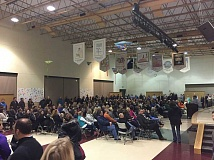 PMG PHOTO: ANDREW KILSTROM - More than 200 concerned parents and community members showed up to Thursdays public meeting at Rosemont Ridge Middle School.