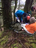 CONTRIBUTED PHOTO: MULTNOMAH COUNTY SHERIFFS OFFICE - Crews were able to rescue a hiker after she fell 100 feet down an embankment.