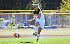 PHOTO COURTESY OF ST. MARTIN'S UNIVERSITY - Sherwood High School graduate Taylor Gersch has shined on and off the field for the St. Martin's University women's soccer team.