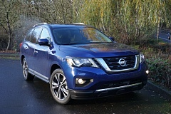 PORTLAND TRIBUNE: JEFF ZURSCHMEIDE - The 2017 Nissan Pathfinder is a good looking mid-size crossover SUV with room for seven and a real four-wheel-drive system, making it perfect the Pacific Northwest.
