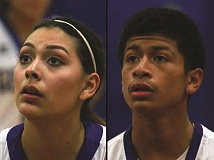 PHIL HAWKINS - Gervais Athletes of the Week Andrea Villegas and Elvis Vallejo.